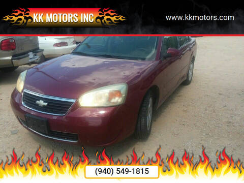 2007 Chevrolet Malibu for sale at KK Motors Inc in Graham TX