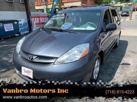 2007 Toyota Sienna for sale at Vanbro Motors Inc in Staten Island NY