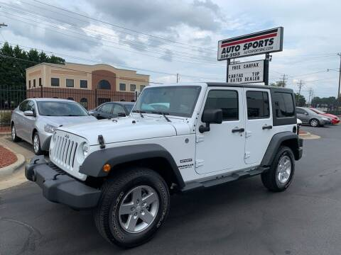 2017 Jeep Wrangler Unlimited for sale at Auto Sports in Hickory NC