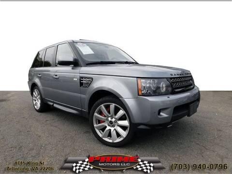 2012 Land Rover Range Rover Sport for sale at PRIME MOTORS LLC in Arlington VA