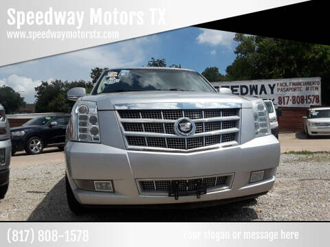 2011 Cadillac Escalade ESV for sale at Speedway Motors TX in Fort Worth TX