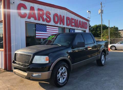 2004 Ford F-150 for sale at Cars On Demand 2 in Pasadena TX