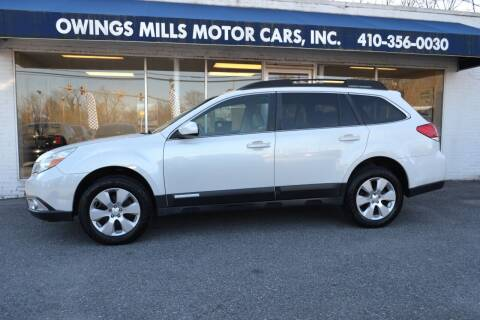 2011 Subaru Outback for sale at Owings Mills Motor Cars in Owings Mills MD