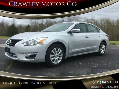 2013 Nissan Altima for sale at Crawley Motor Co in Parsons TN