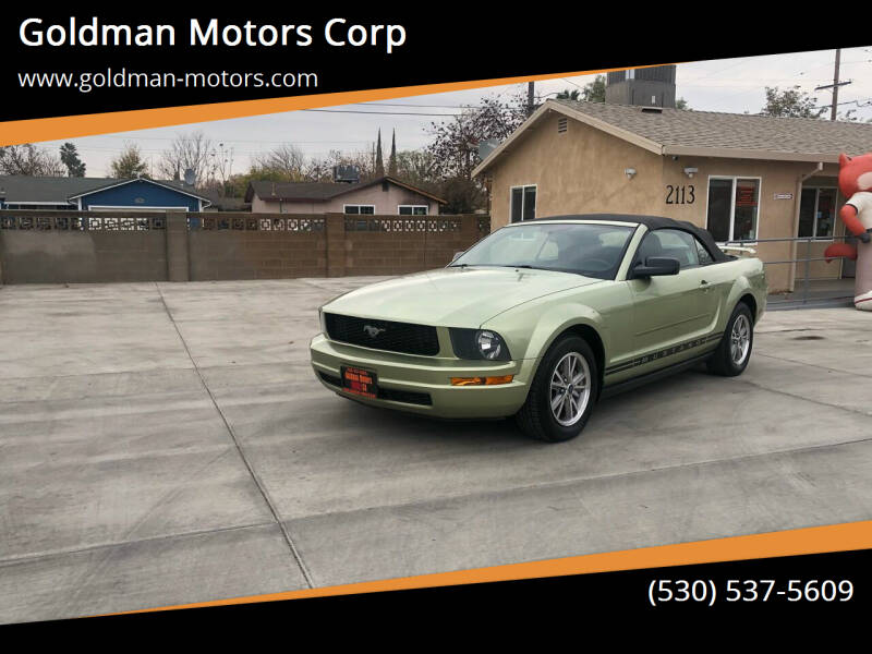 2005 Ford Mustang for sale at Goldman Motors Corp in Stockton CA