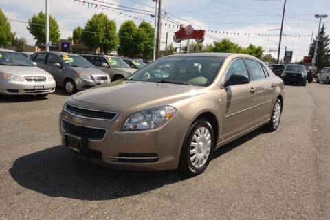2008 Chevrolet Malibu for sale at Leavitt Auto Sales and Used Car City in Everett WA