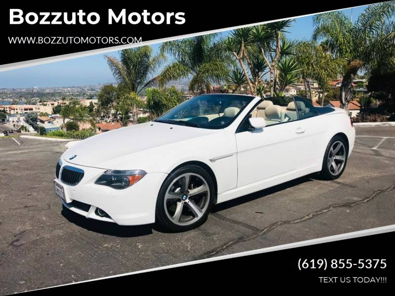 2007 BMW 6 Series for sale at Bozzuto Motors in San Diego CA