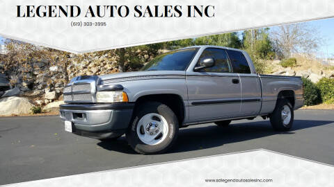 2001 Dodge Ram Pickup 1500 for sale at Legend Auto Sales Inc in Lemon Grove CA