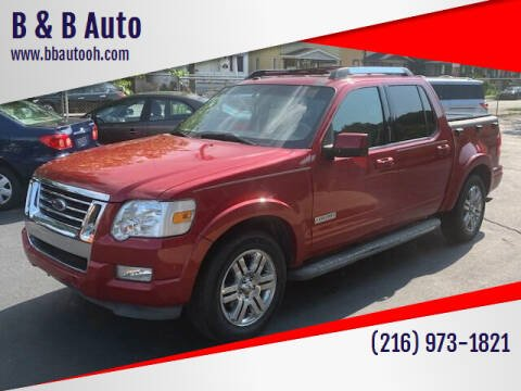 2010 Ford Explorer Sport Trac for sale at B & B Auto in Cleveland OH