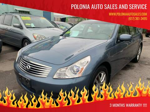 2007 Infiniti G35 for sale at Polonia Auto Sales and Service in Hyde Park MA