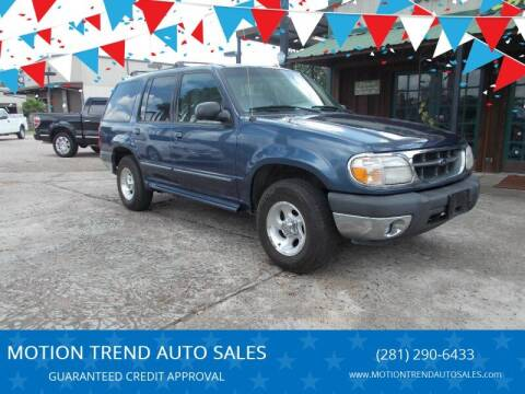 2000 Ford Explorer for sale at MOTION TREND AUTO SALES in Tomball TX