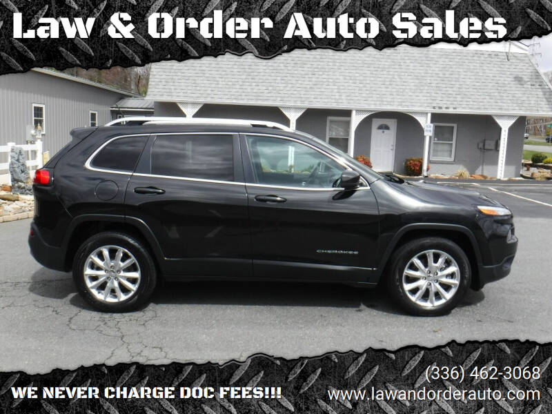 2015 Jeep Cherokee for sale at Law & Order Auto Sales in Pilot Mountain NC