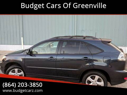 2004 Lexus RX 330 for sale at Budget Cars Of Greenville in Greenville SC