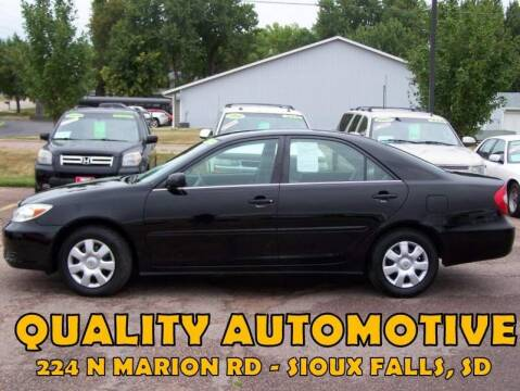 2004 Toyota Camry for sale at Quality Automotive in Sioux Falls SD