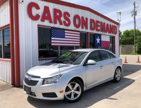 2014 Chevrolet Cruze for sale at Cars On Demand 2 in Pasadena TX