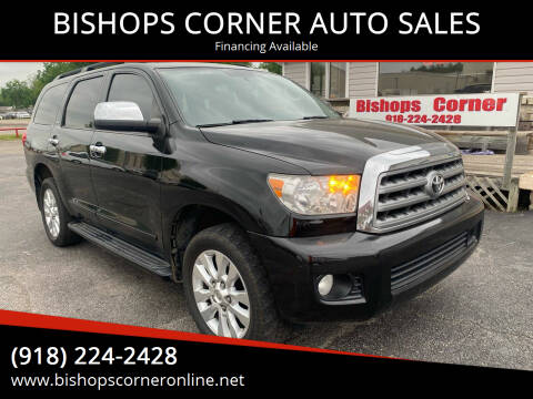 2012 Toyota Sequoia for sale at BISHOPS CORNER AUTO SALES in Sapulpa OK