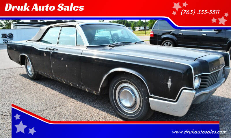1966 Lincoln Continental for sale at Druk Auto Sales in Ramsey MN