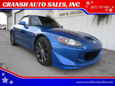 2007 Honda S2000 for sale at CRANSH AUTO SALES, INC in Arlington TX