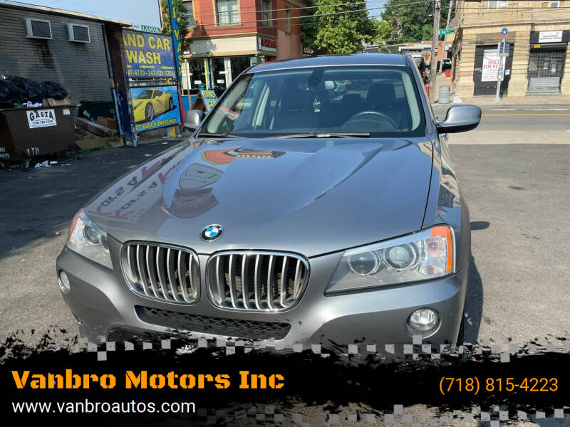 2012 BMW X3 for sale at Vanbro Motors Inc in Staten Island NY