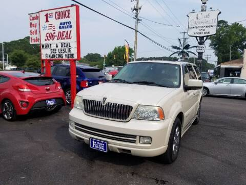 2006 Lincoln Navigator for sale at 1st Choice Auto Sales in Newport News VA