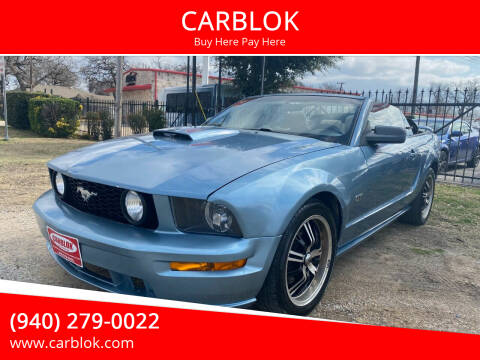 2008 Ford Mustang for sale at CARBLOK in Lewisville TX