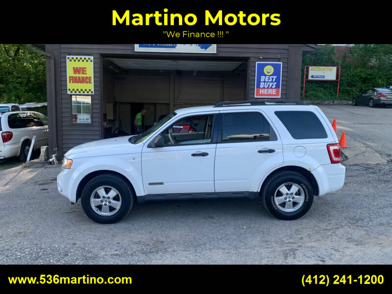 2008 Ford Escape for sale at Martino Motors in Pittsburgh PA