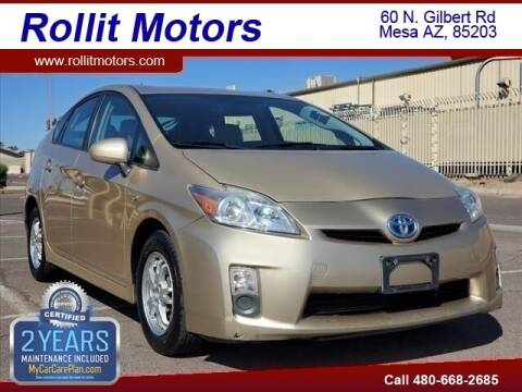 2010 Toyota Prius for sale at Rollit Motors in Mesa AZ