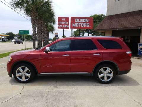 2011 Dodge Durango for sale at Olson Motors LLC in Saint Augustine FL
