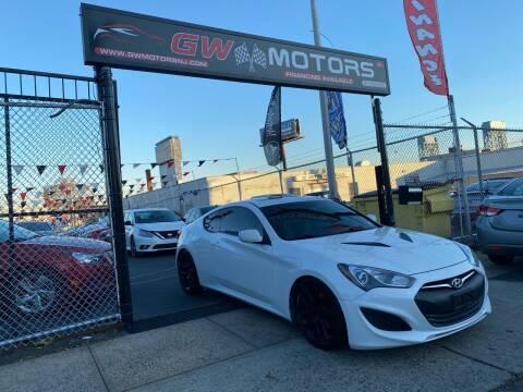 2013 Hyundai Genesis Coupe for sale at GW MOTORS in Newark NJ