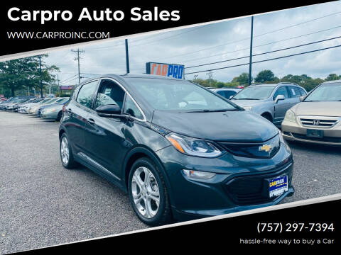 2017 Chevrolet Bolt EV for sale at Carpro Auto Sales in Chesapeake VA