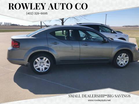 2013 Dodge Avenger for sale at Rowley Auto Co in Pierce NE