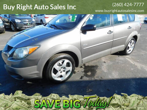 2003 Pontiac Vibe for sale at Buy Right Auto Sales Inc in Fort Wayne IN