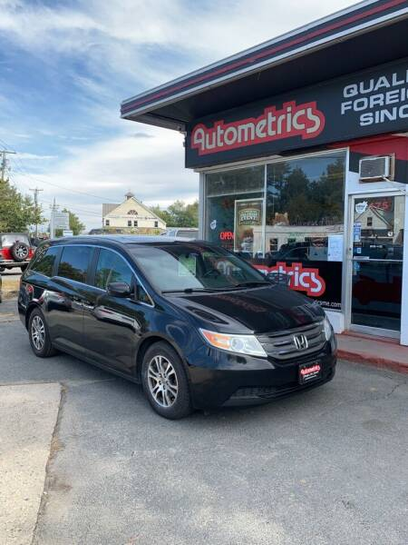 2012 Honda Odyssey for sale at AUTOMETRICS in Brunswick ME
