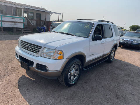 2002 Ford Explorer for sale at PYRAMID MOTORS - Fountain Lot in Fountain CO