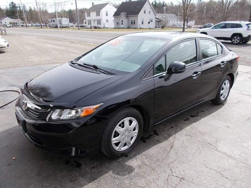 2012 Honda Civic for sale at Dansville Radiator in Dansville NY