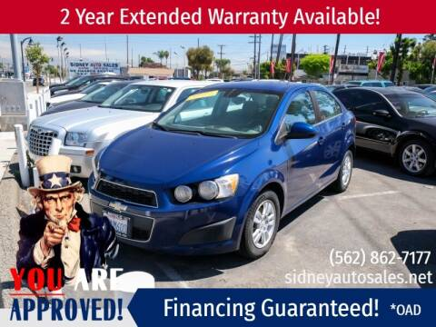2012 Chevrolet Sonic for sale at Sidney Auto Sales in Downey CA