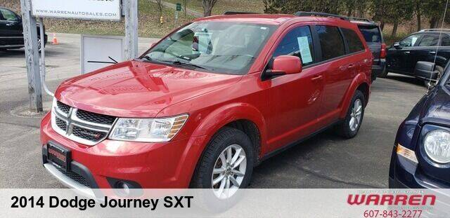 2014 Dodge Journey for sale at Warren Auto Sales in Oxford NY