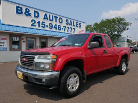 2007 GMC Canyon for sale at B & D Auto Sales Inc. in Fairless Hills PA