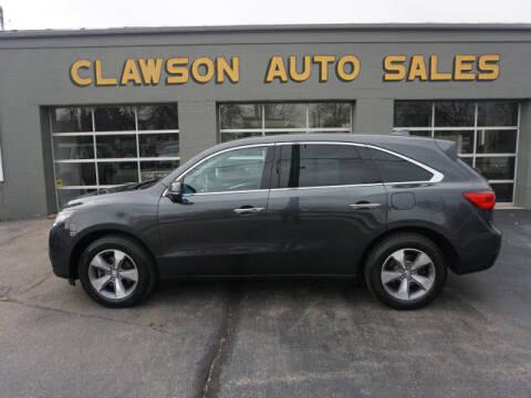 2014 Acura MDX for sale at Clawson Auto Sales in Clawson MI