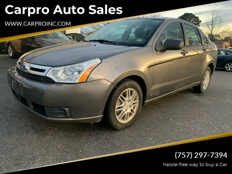2010 Ford Focus for sale at Carpro Auto Sales in Chesapeake VA