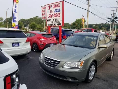 2010 Hyundai Sonata for sale at 1st Choice Auto Sales in Newport News VA