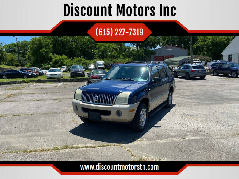 2004 Mercury Mountaineer for sale at Discount Motors Inc in Nashville TN