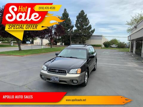 2004 Subaru Outback for sale at APOLLO AUTO SALES in Sacramento CA