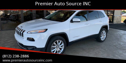 2016 Jeep Cherokee for sale at Premier Auto Source INC in Terre Haute IN