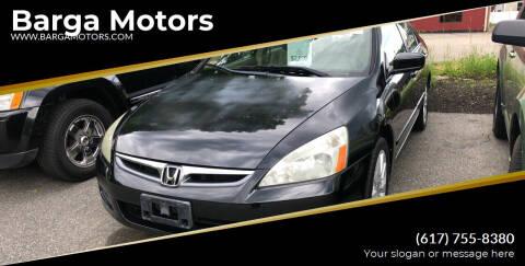 2007 Honda Accord for sale at Barga Motors in Tewksbury MA