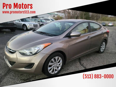 2012 Hyundai Elantra for sale at Pro Motors in Fairfield OH
