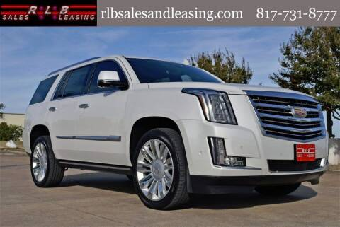 2020 Cadillac Escalade for sale at RLB Sales and Leasing in Fort Worth TX
