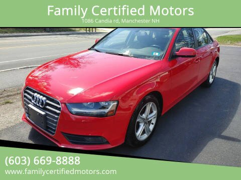 2013 Audi A4 for sale at Family Certified Motors in Manchester NH