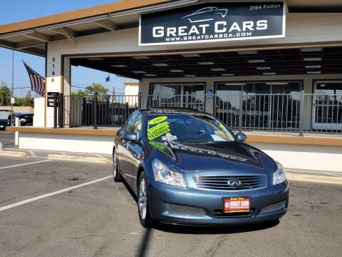 2007 Infiniti G35 for sale at Great Cars in Sacramento CA