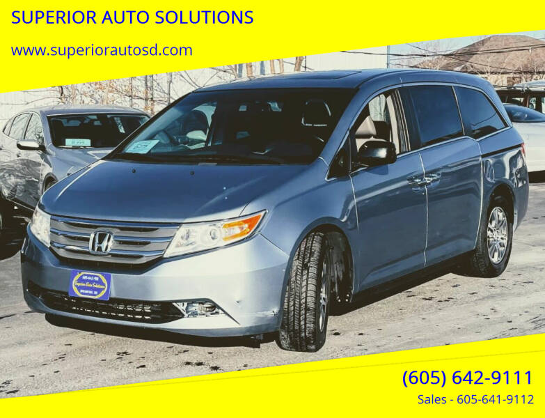 2012 Honda Odyssey for sale at SUPERIOR AUTO SOLUTIONS in Spearfish SD